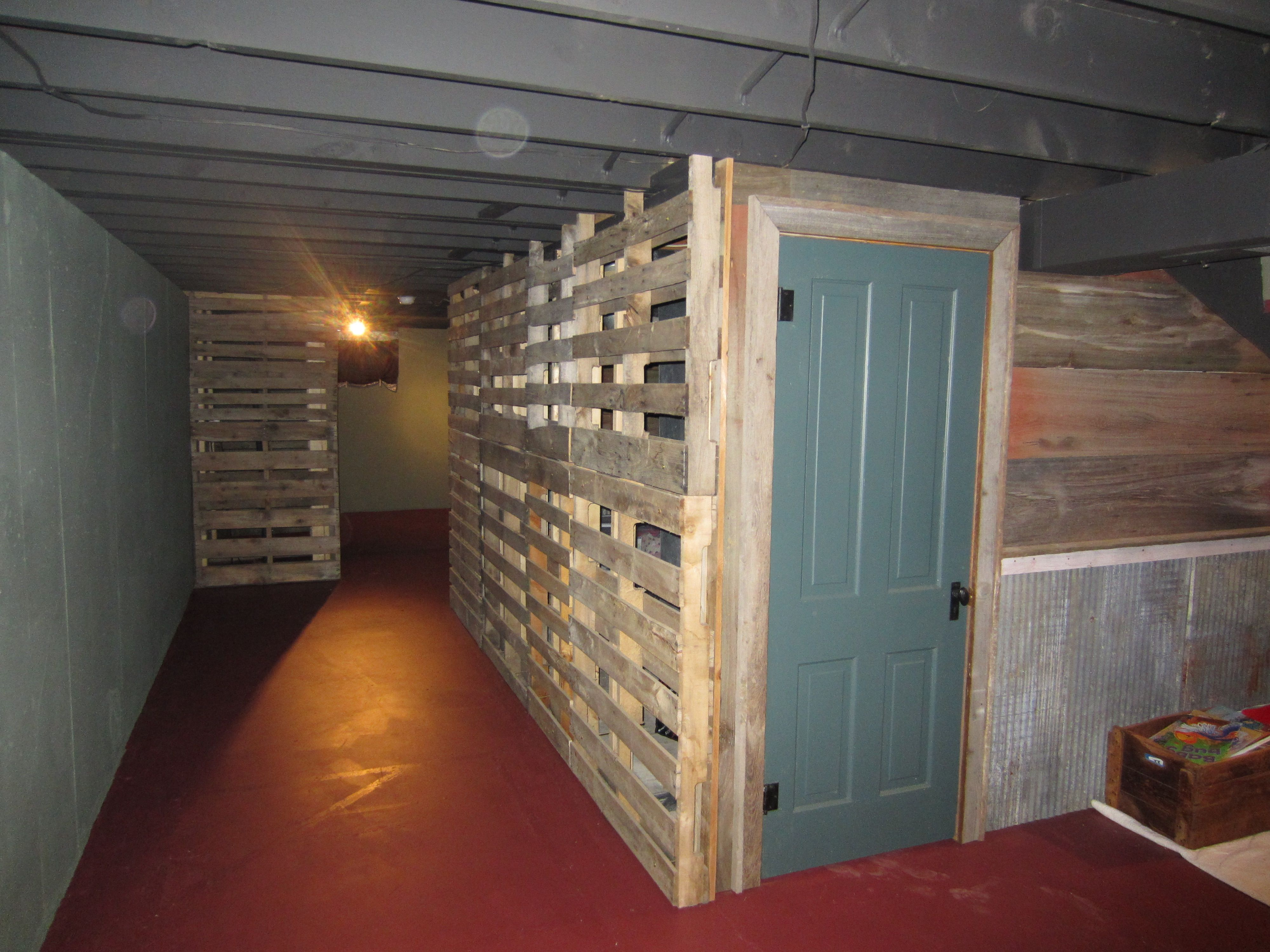 Pallet Wall Easy Ventilation For A Furnace Room It Just