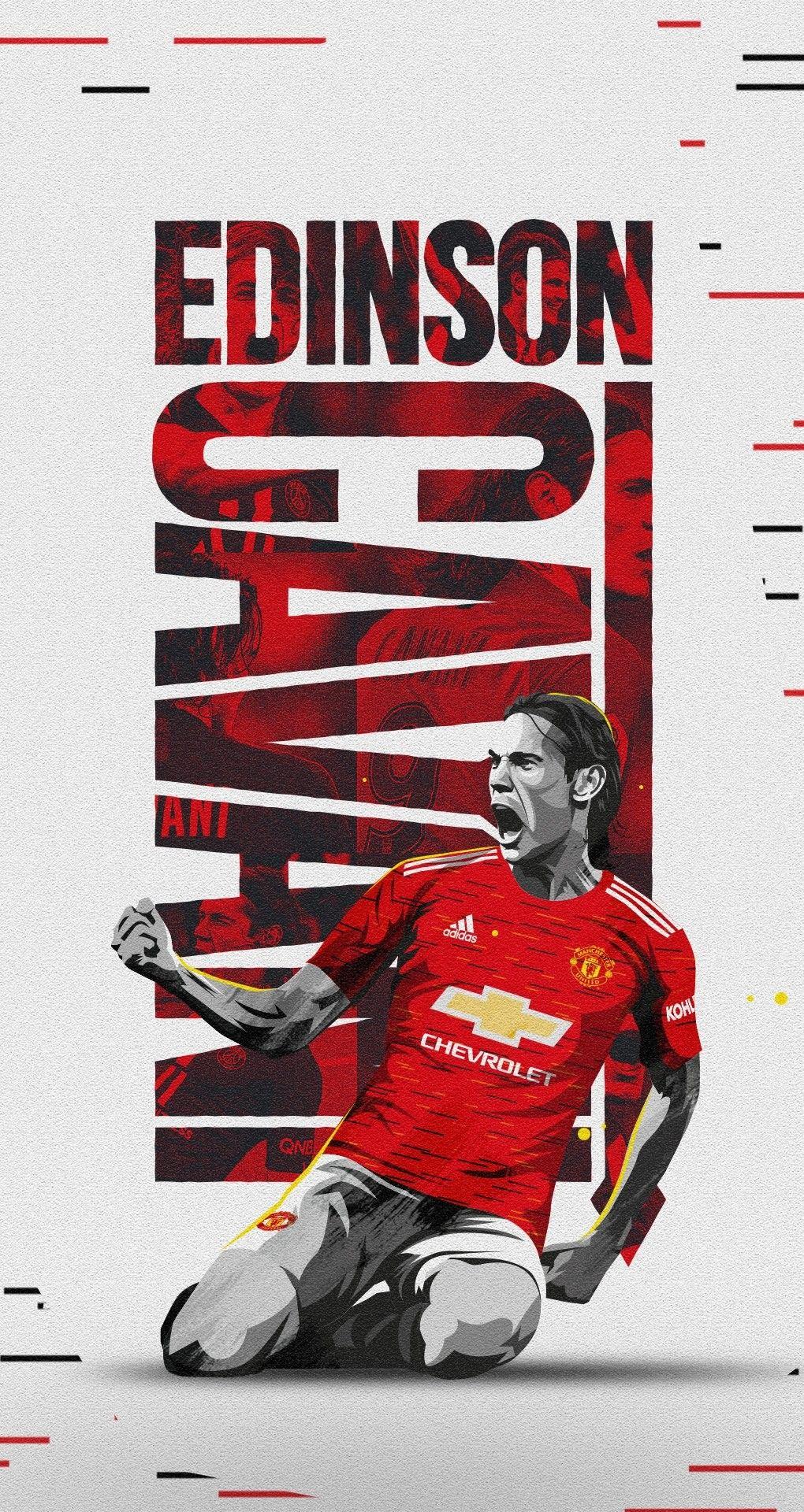 Edison Cavani In 2020 Manchester United Logo Manchester United Manchester United Wallpaper