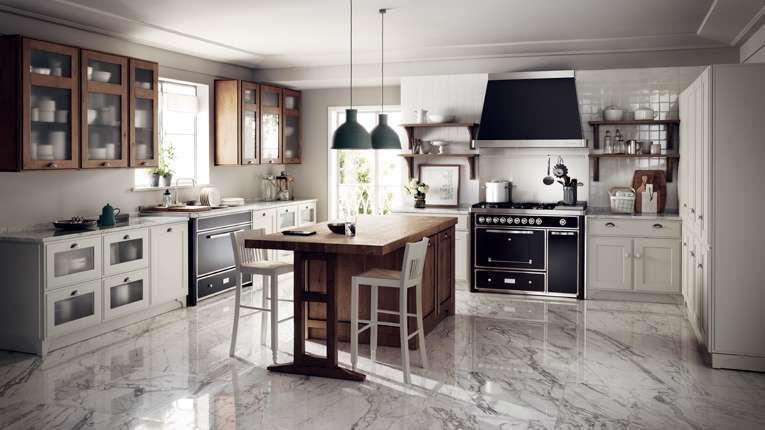 Arredare la cucina in stile country chic - Cucina bicolore in ...