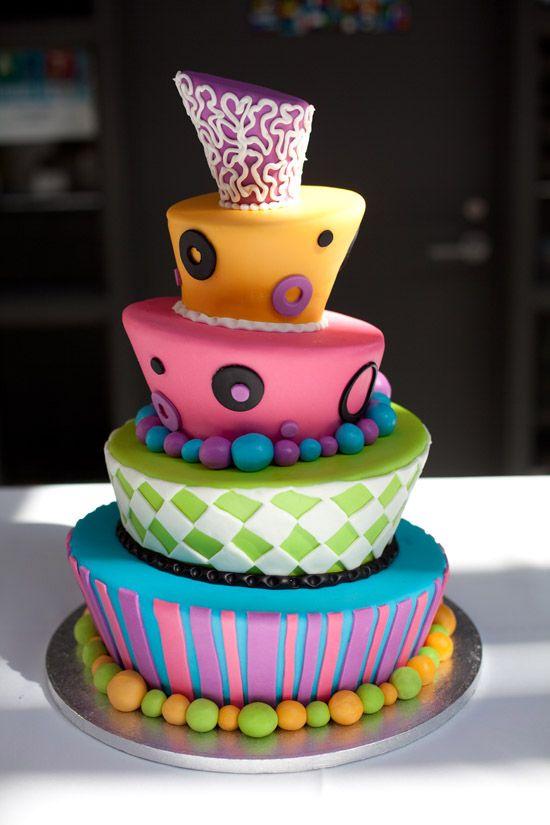 Whimsical Topsy Turvy Cake By Lyndsay Clark Photography Corina V