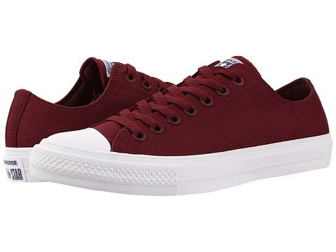 41f0e67ea5e5 Converse Chuck Taylor® All Star II Ox Deep Bordeaux White Navy - Zappos.com  Free Shipping BOTH Ways