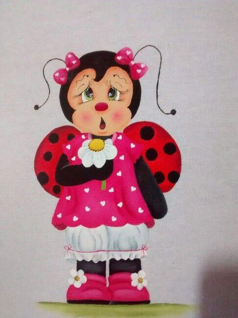 Joaninha com flor