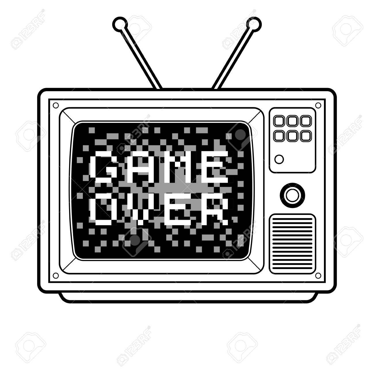 Game Over On Tv Coloring Book Vector Illustration Sponsored Coloring Tv Game Illustration Vec Crayola Coloring Pages Coloring Books Coloring Pages