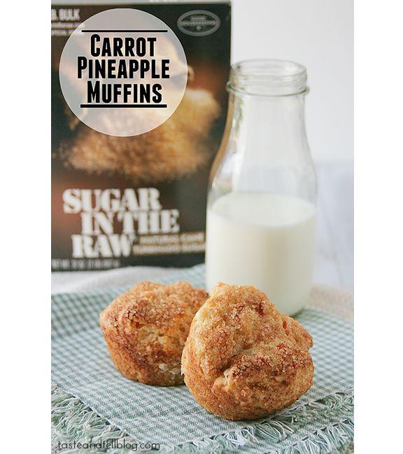 Carrot Pineapple Muffins | www.tasteandtellblog.com