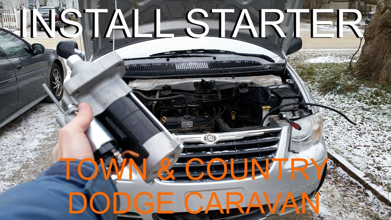 Replace Starter Chrysler Town Country Dodge Caravan How To