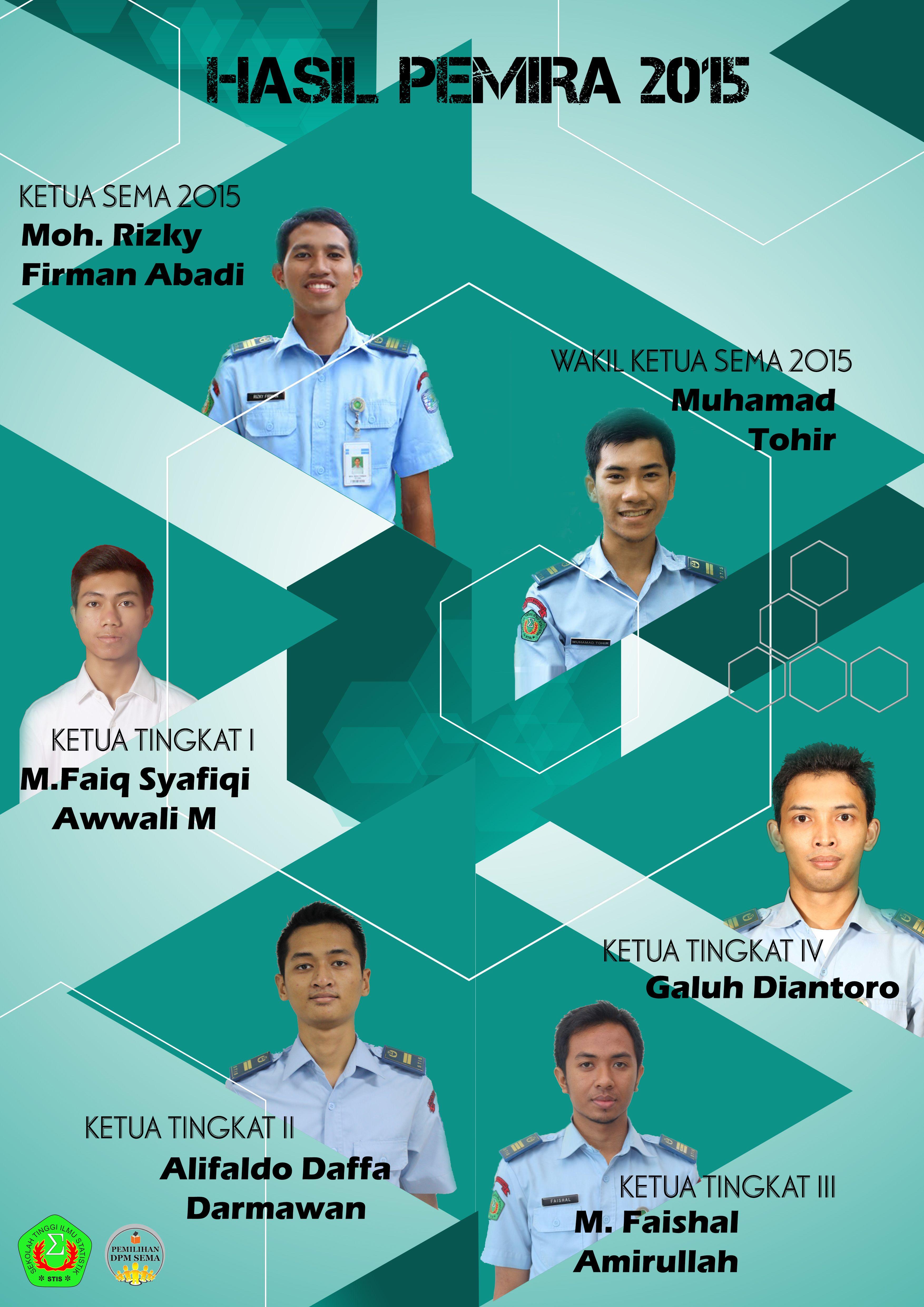 Poster Hasil Pemilihan Ketua Wakil Ketua Sema Ketua Tingkat Poster Penuaan