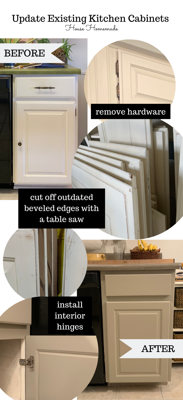Budget Kitchen Makeover Converting Cabinet Doors From Exposed Hinges To Concealed House Homemade Budget Kitchen Makeover Update Cabinets Cabinet Doors