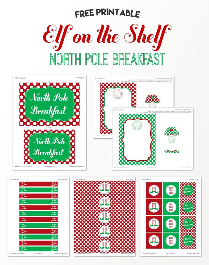 Elf On The Shelf North Pole Breakfast  Elf On The Shelf