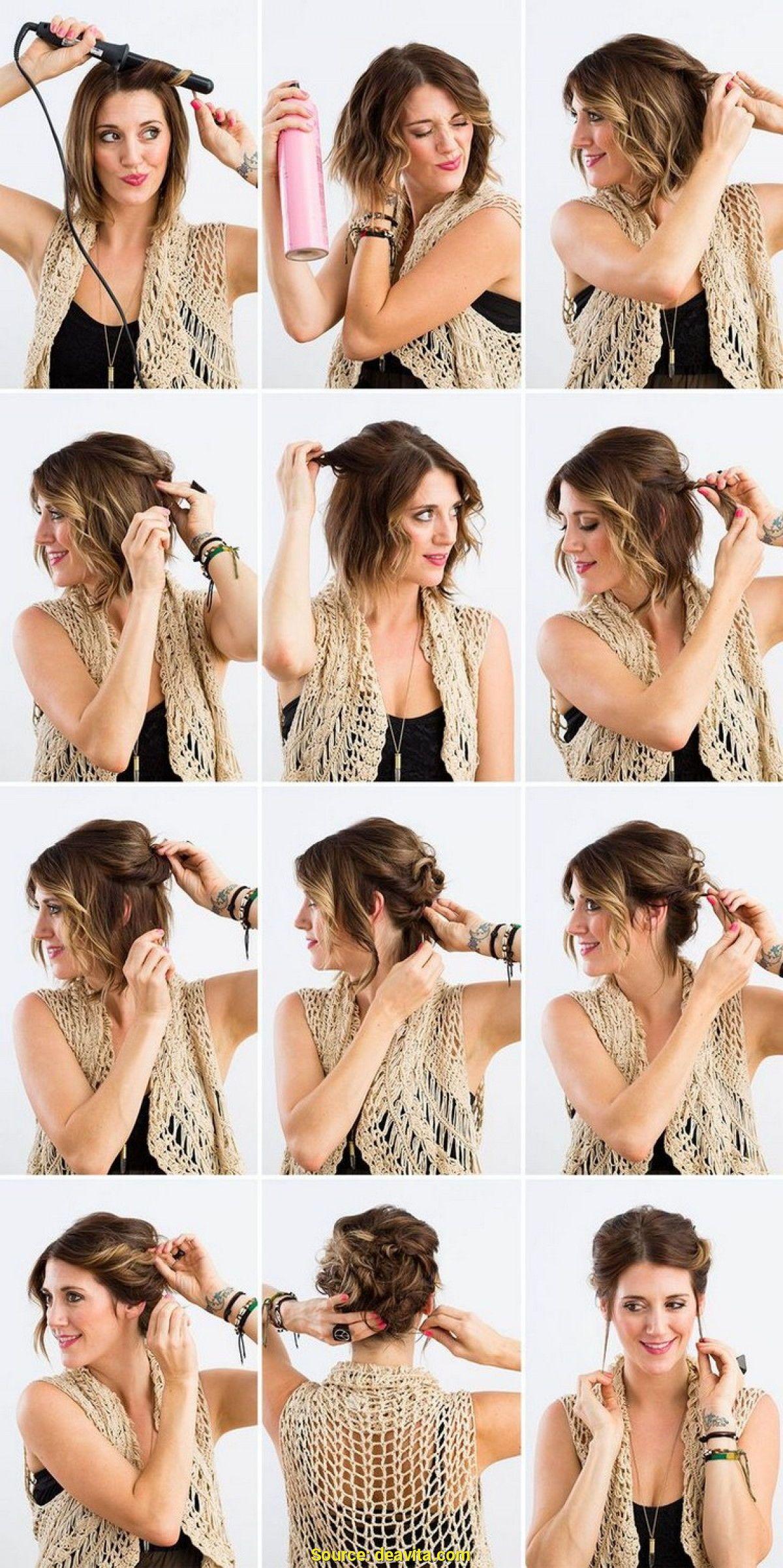 Luce Fantastica Con Este Peinado Recogido Para Cabello Corto Peinados Cabello Corto Faciles Recog Short Hair Styles Hairdos For Short Hair Long Hair Styles