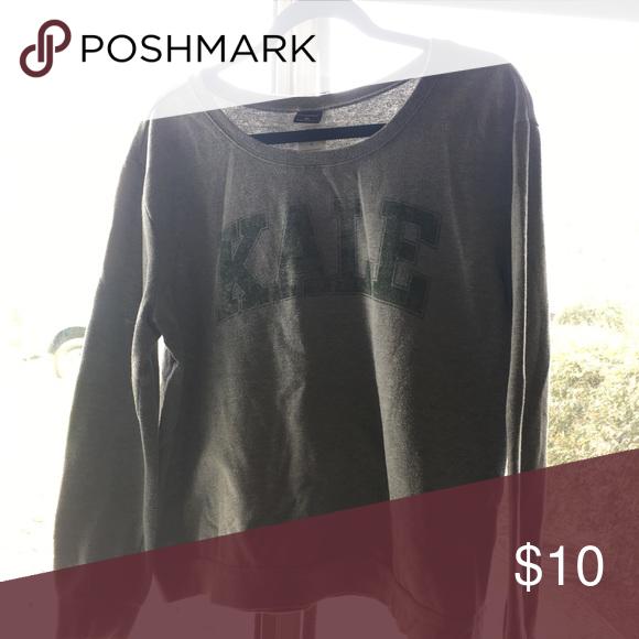 Make sweatshirt Grey kale sweatshirt Jackets & Coats