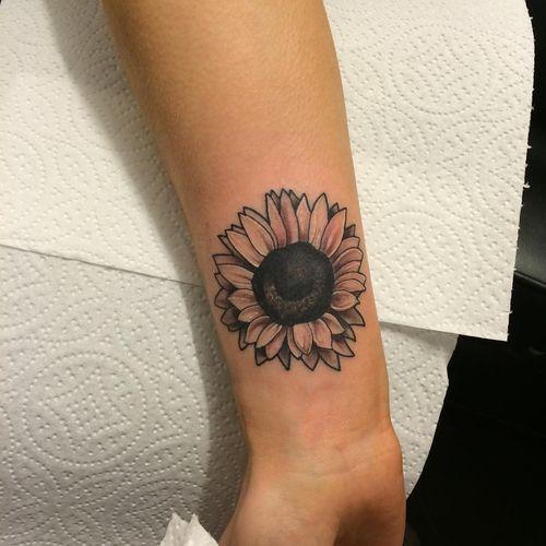 Small Sunflower Tattoo Design Ideas
