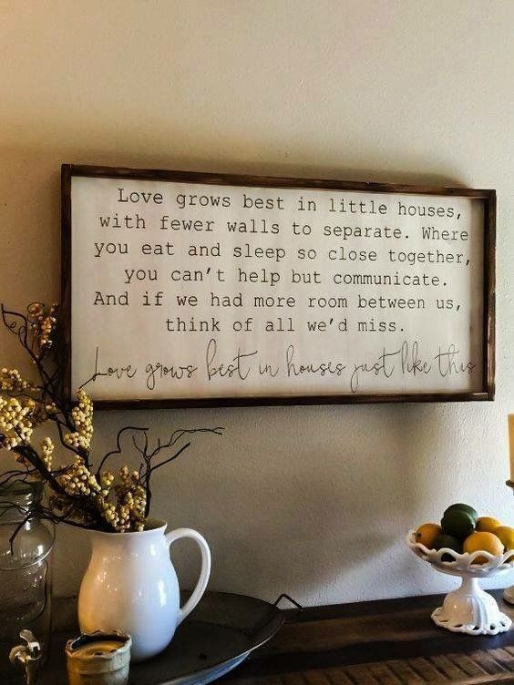 Small house quote | House life | Pinterest | House quotes, Smallest ...