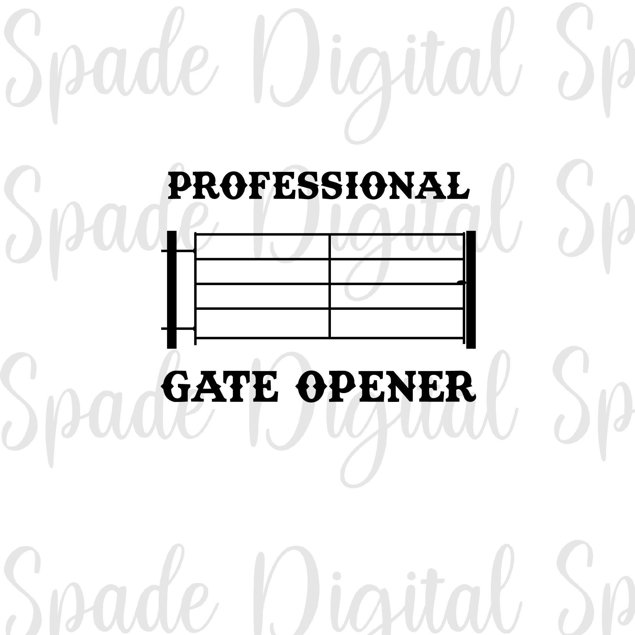 Professional Gate Opener, Country SVG, Professional Gate