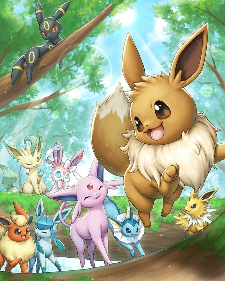 10f82c63 Let's go, Eevee! . Artis | Pokemon | Pokemon backgrounds, Pokemon ...