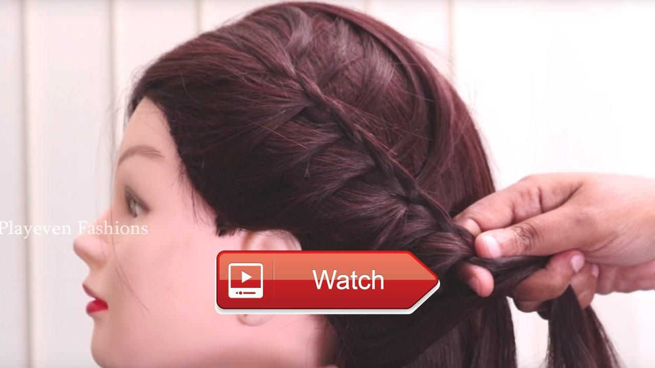 Quick and simple side french braid hair style cute hairstyles for