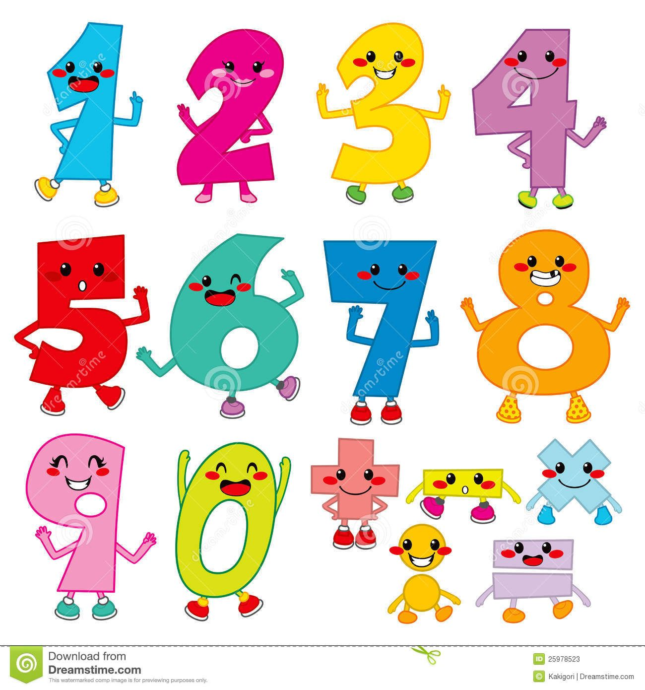 Funny Cartoon Numbers Download From Over 70 Million High Quality Stock Photos Images Vectors Sign Up For With Images Art Activities For Kids Scrapbook Fonts Kid Fonts