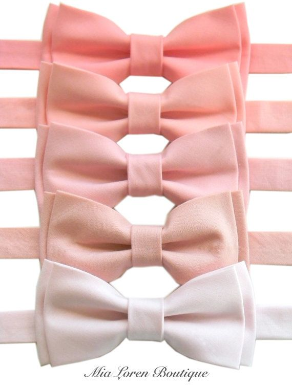 0b6753c60974 Pink Bow Ties for Men or Boys Blush Light Pink by MiaLorenBoutique ...