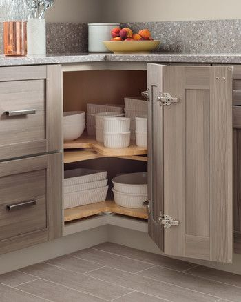 home depot lazy susan kitchen mushroom Corner Kitchen Cabinets Kitchen Layouts Kitchen Pantry & Behind the Door: 17 Clever Ways to Organize Your Kitchen | Kitchen ...