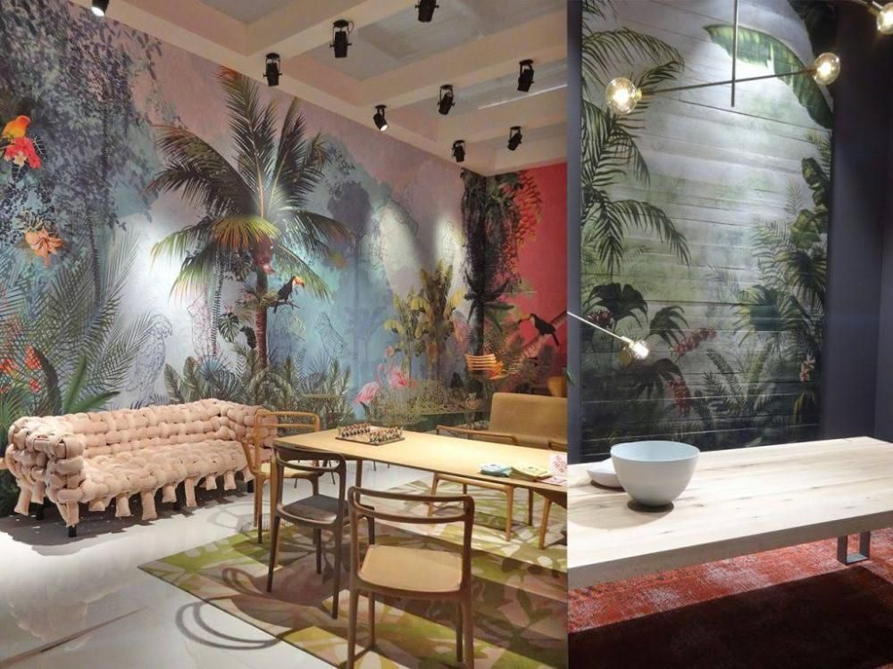 Tendencias Decoracion 2017 2018 Paredes Tropicales Diseno Y - Ultimas-tendencias-en-decoracion-de-paredes