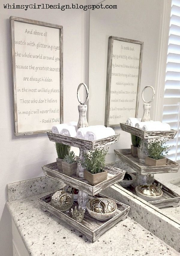 Unique accessories add style and function to my vanity for Decorative bathroom tray