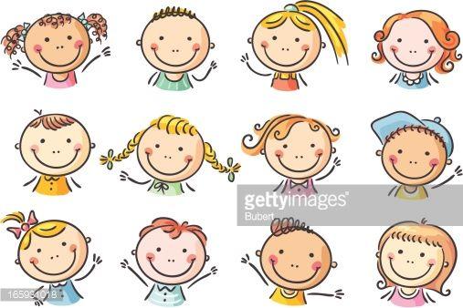How To Draw Cute Faces Google Search Ninos Felices Dibujos Caras Felices Ninos Dibujos Animados