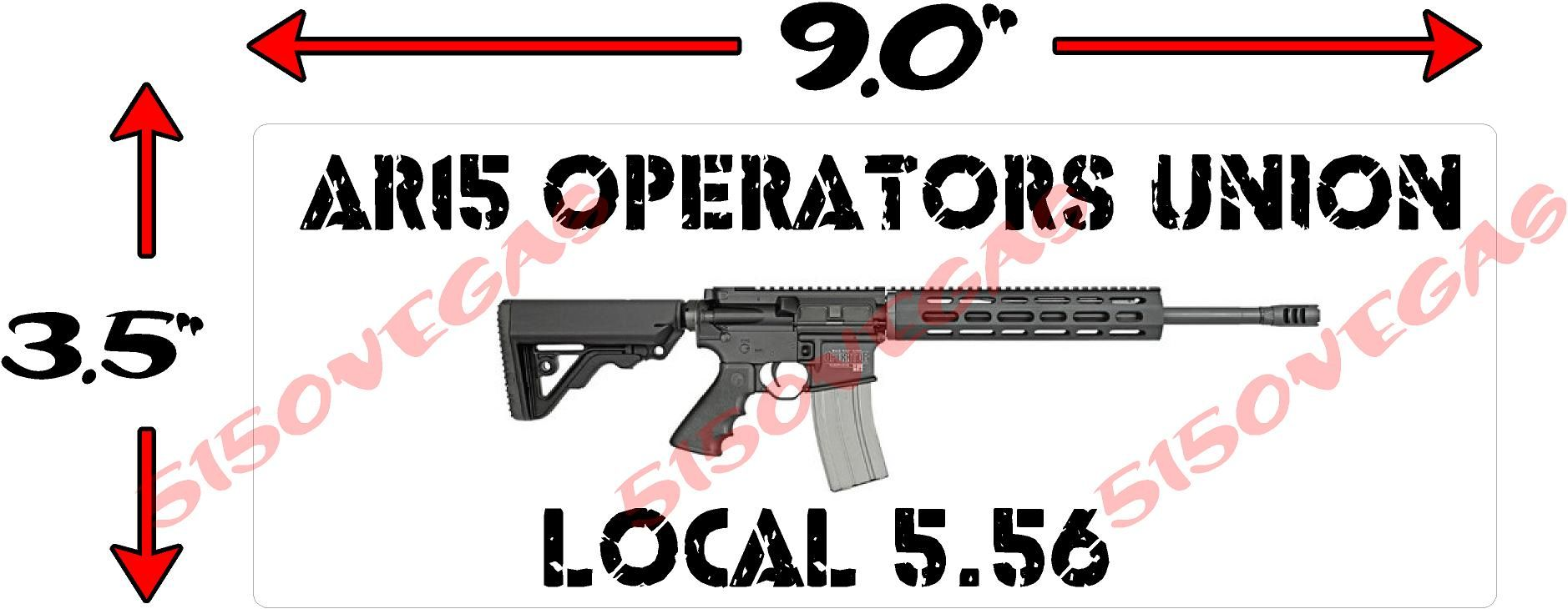 AR Operators Union Local Decal Sticker Gun Decals - Custom gun barrel stickersgun decals shotgun barrel sticker shooting ammo decal
