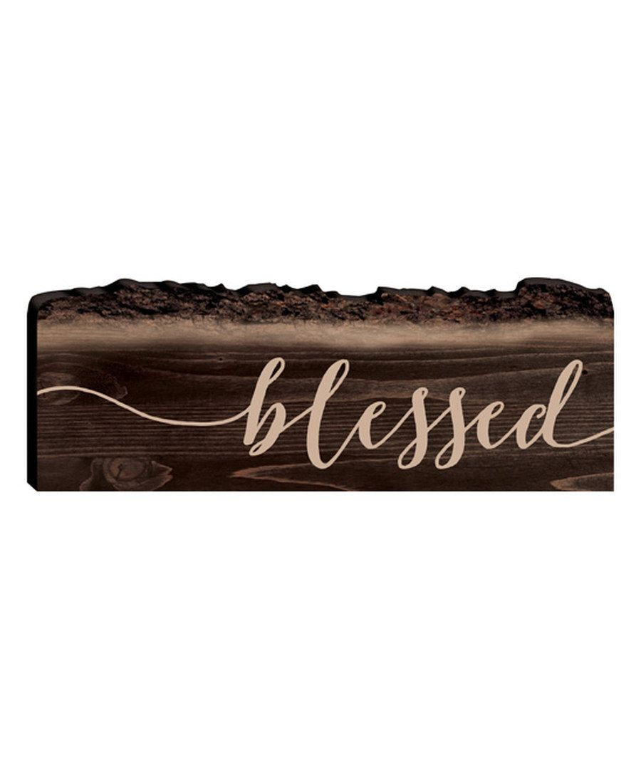 Look at this 'Blessed' Tree Trunk Sign on #zulily today!