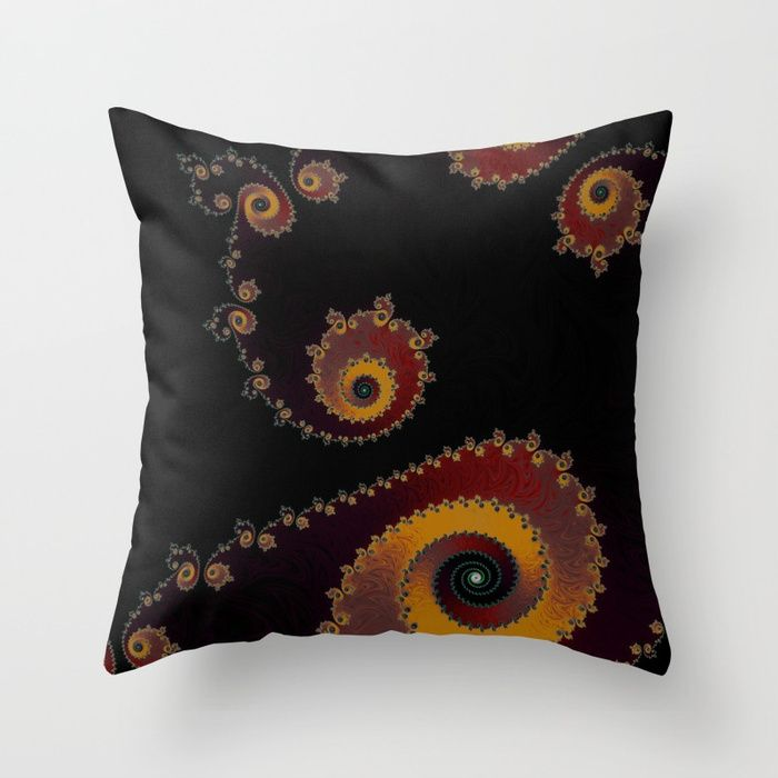 Buy Burning Embers - Fractal Art Throw Pillow by jilla. Worldwide shipping available at Society6.com. Just one of millions of high quality products available.