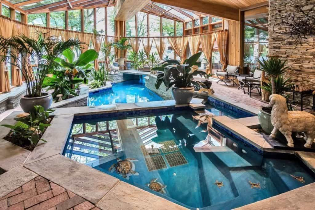 Awesome Indoor Swimming Pool For Your Home Indoor Swimming Pools Indoor Pool Design Indoor Swimming