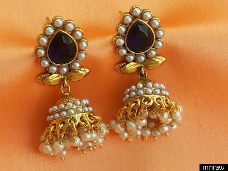 Beautiful pearl jhumka