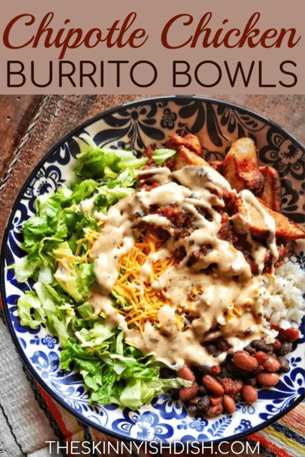 Chipotle Chicken Burrito Bowls Recipe Chicken Burritos Chicken Burrito Bowl Burrito Bowls Recipe