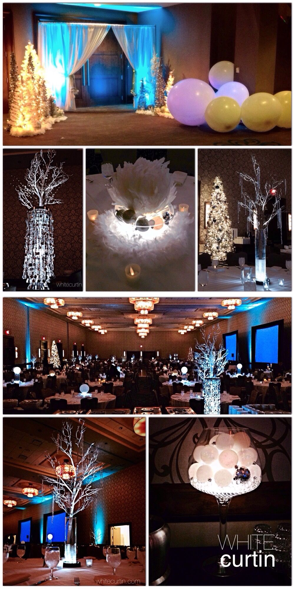 Holiday Decor Inspiration Winter Wonderland Corporate Holiday Party - Design