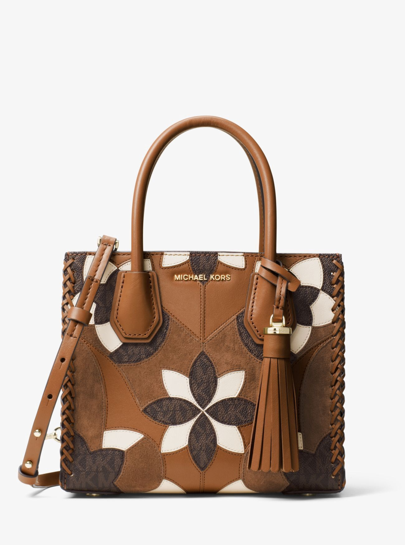 michael kors mercer floral patchwork leather crossbody michaelkors rh pinterest com