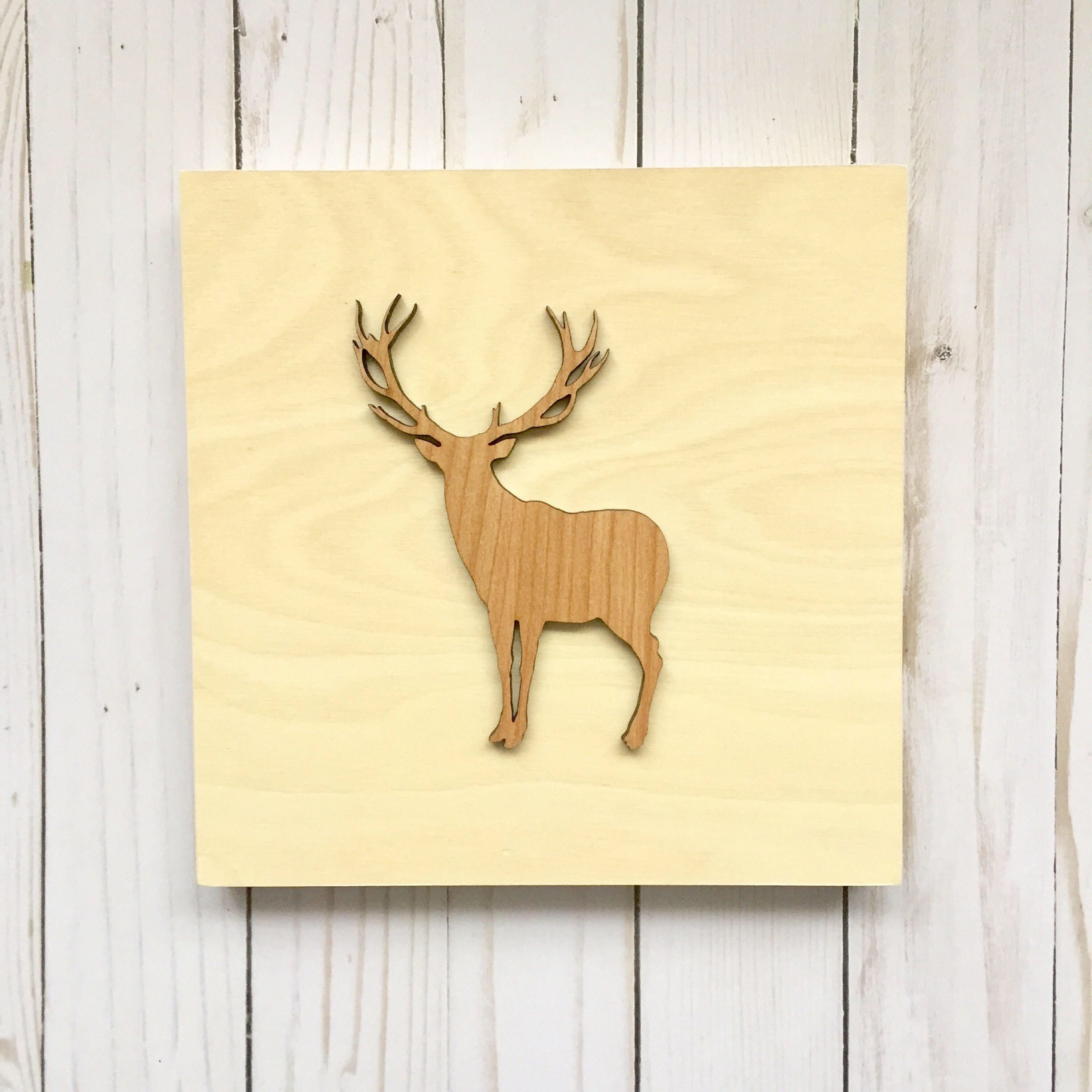 Nice Deer Silhouette Wall Decor Gallery - The Wall Art Decorations ...