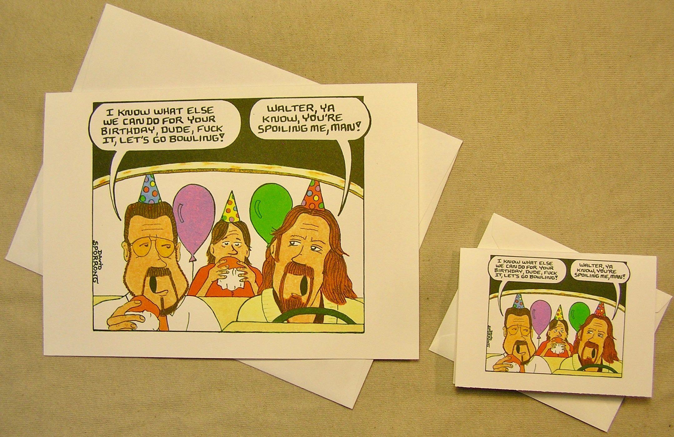 The Big Lebowski Birthday Card The Dudes Cruisin Regular Size