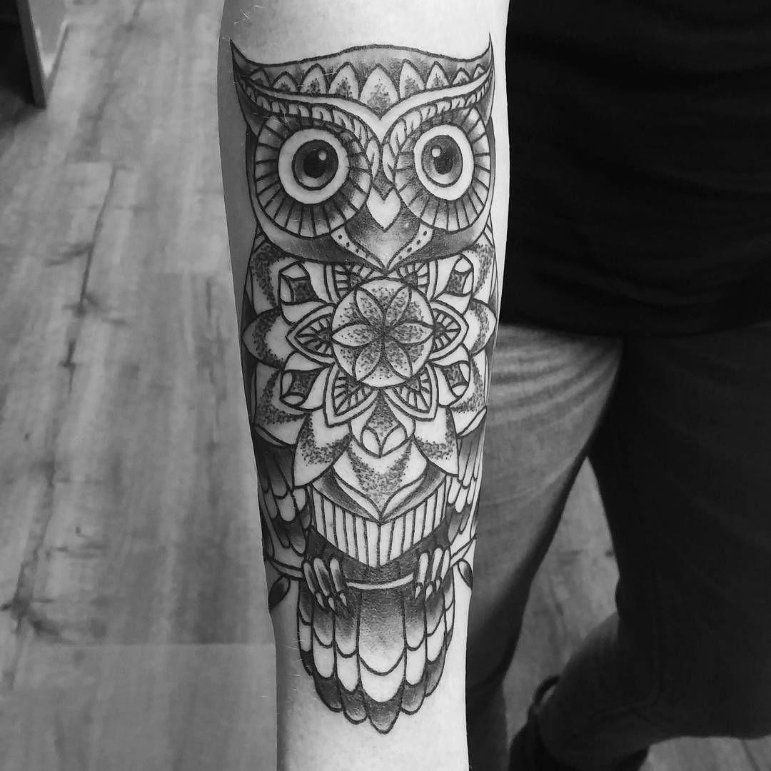 Buho Tatuaje Mandala pin en tattoos