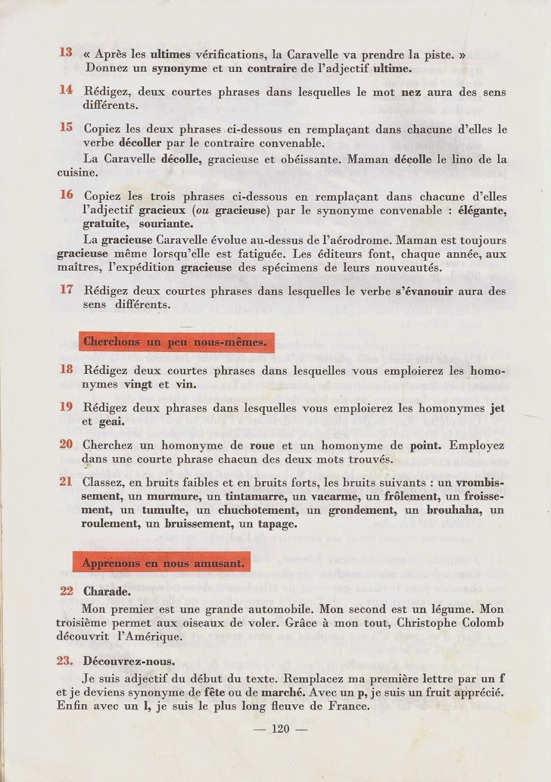 Verret Et Furcy Ecrire Et Parler Cm1 1964 Cm1 Expression Ecrite Ecrire