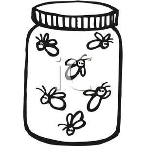 black and white fireflies in a jar royalty free clipart picture rh pinterest com