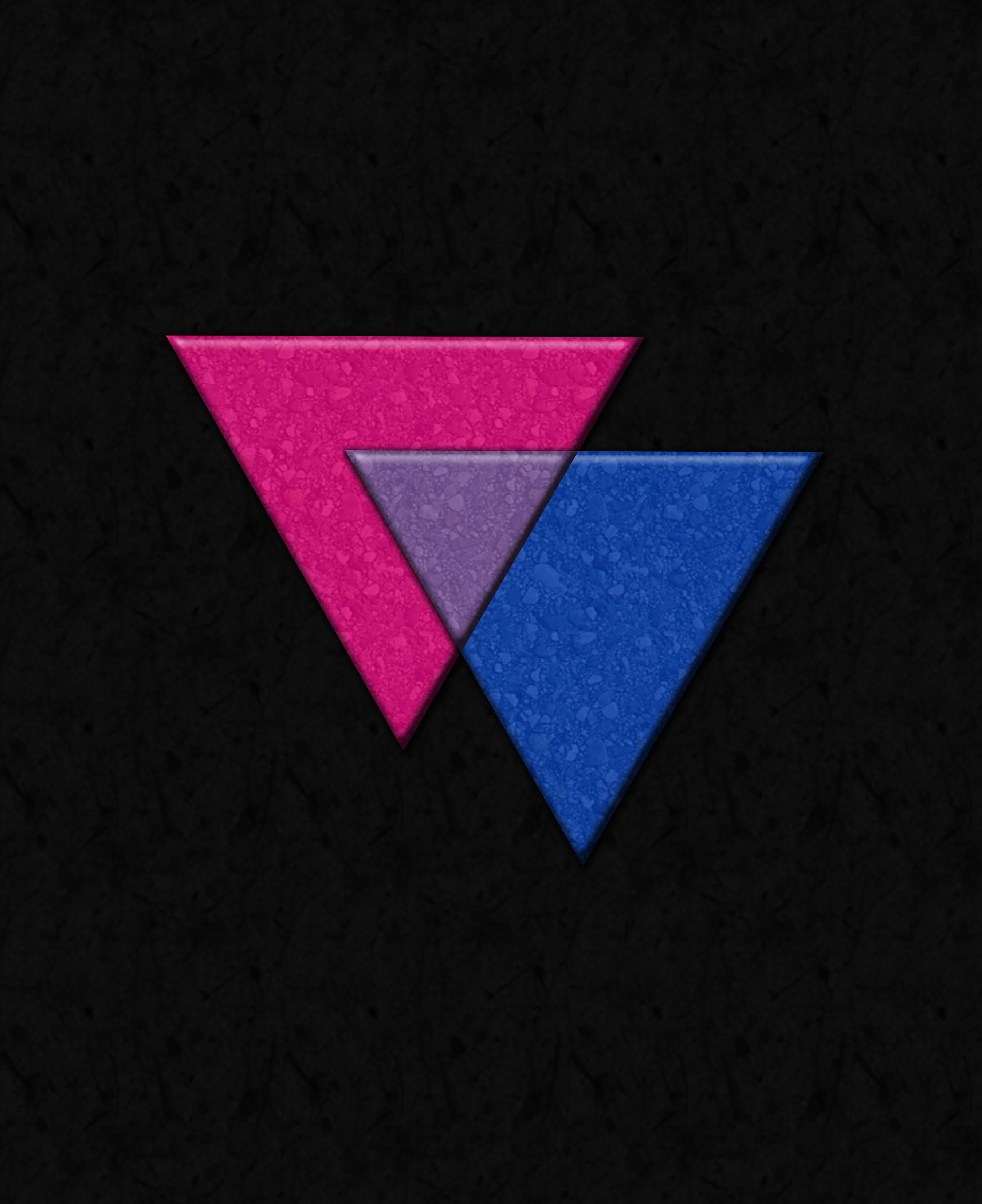 Accept. The symbolism triangle bisexual more