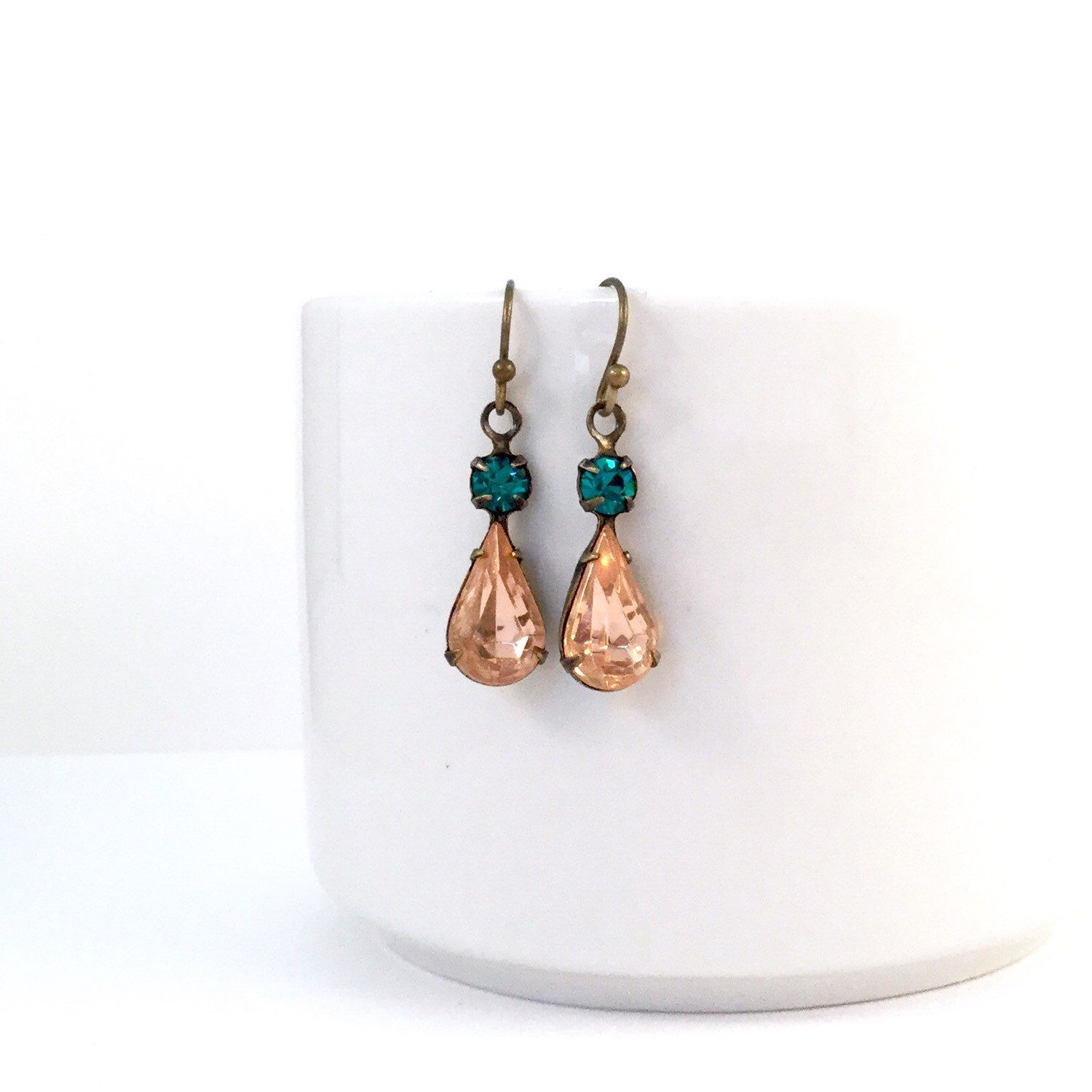 A personal favorite from my Etsy shop https://www.etsy.com/listing/252341511/alyssa-earrings-in-rosaline-turquoise