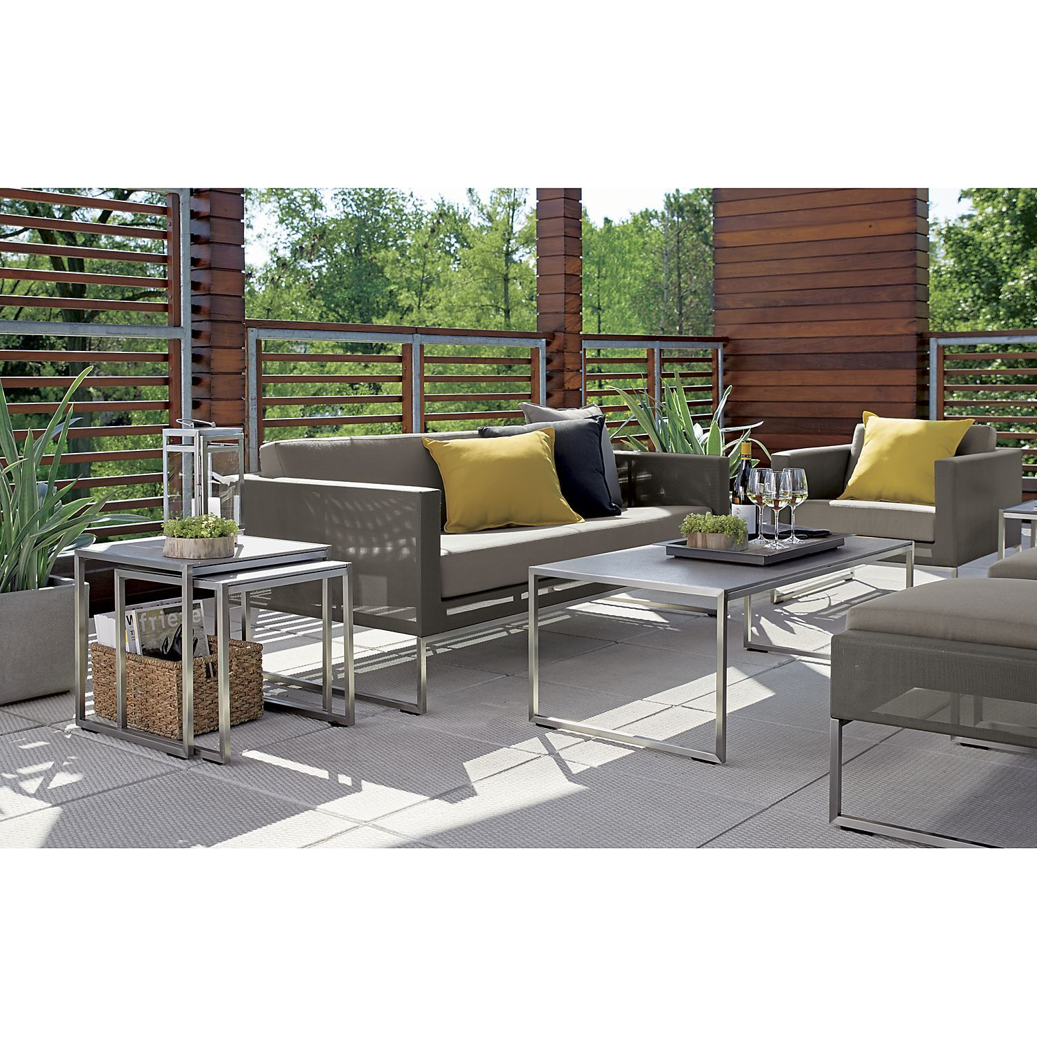 Dune Taupe Sofa with Sunbrella Cushions + Reviews | Crate ... on Dune Outdoor Living id=93741