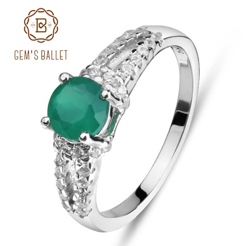 74fe47308dbd5 Click Image to Buy> GEM'S BALLET 925 Sterling Silver Green Agate ...