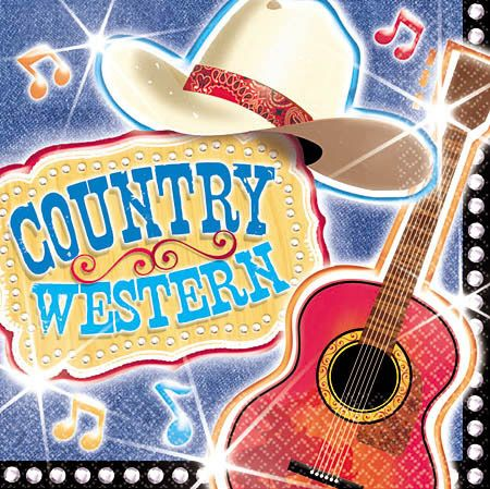 Western Theme Backgrounds Country Western Luncheon Napkins Music Notes Napkins Music Theme