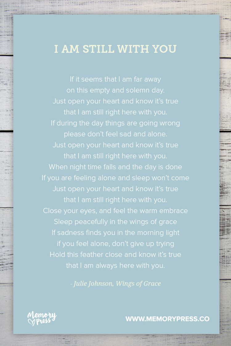 I am atill with you - by Julie Johnson, Wings of Grace. A collection ...