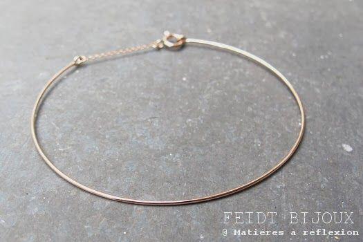 Bracelet fin jonc