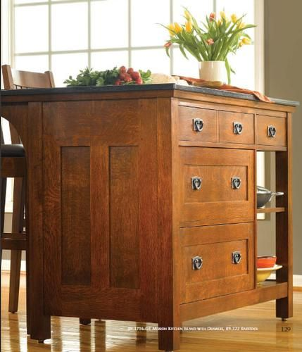 Furniture Style Kitchen Islands: Stickley Mission Kitchen Island ...as Much As I Love The