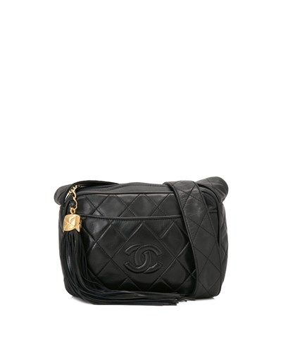 09dee1ab99e Chanel - Pre-Owned Chanel Quilted Lambskin Leather Small Tassel Bag ...