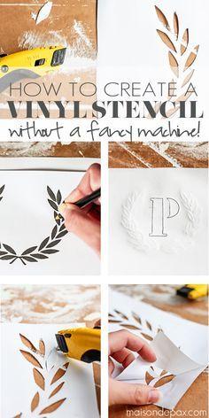How To Create A Vinyl Stencil   basement ideas   Stencil diy