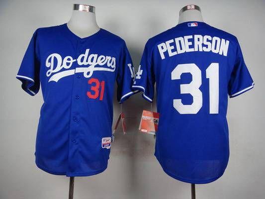 best service 3f0c8 df699 Men's Los Angeles Dodgers #31 Joc Pederson Blue Jersey | MLB ...