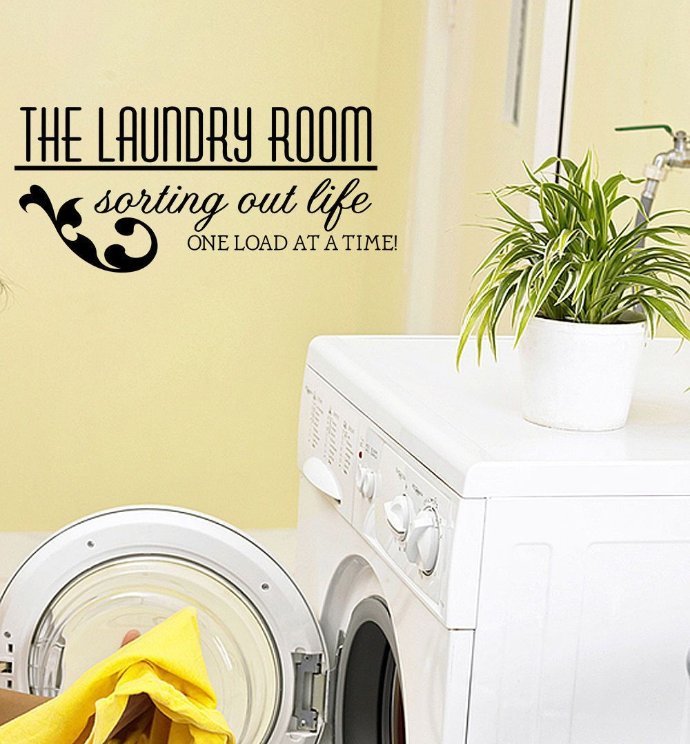 LAUNDRY ROOM VINYL WALL QUOTE DECAL STICKER ART DECOR ART DECOR Wall ...
